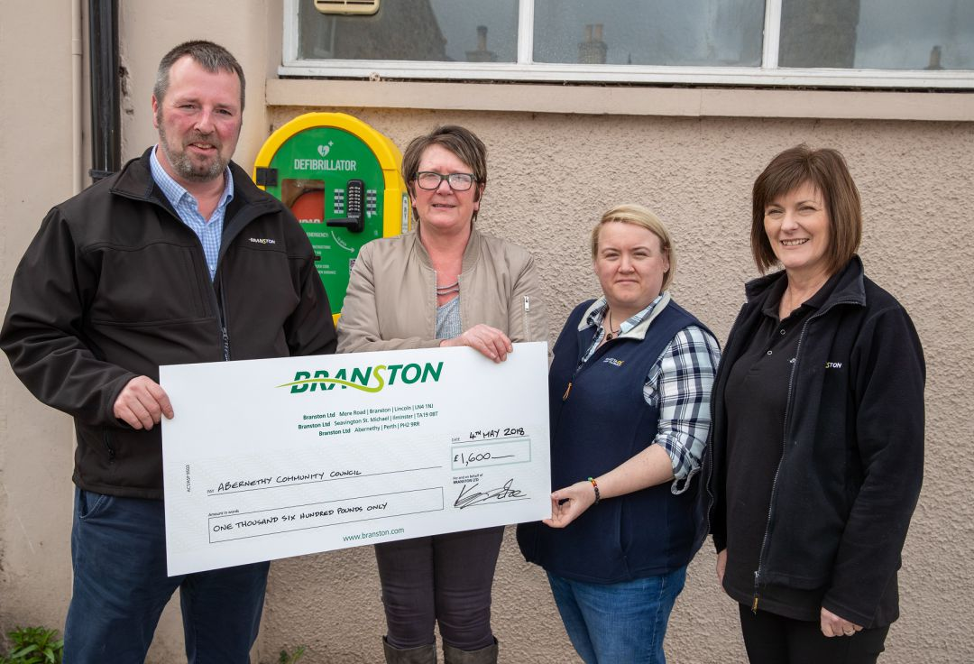 Branston helps fund defibrilators for the heart of the community