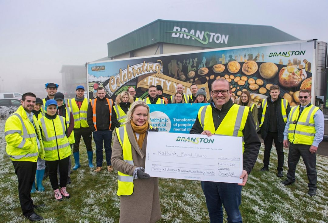 Branston has donated £21,420 to Rethink Mental Illness